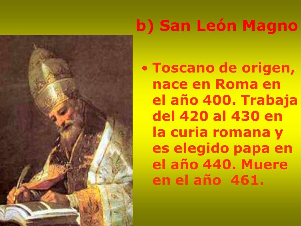 b) San León Magno