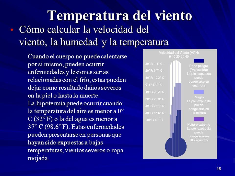 Temperatura del viento