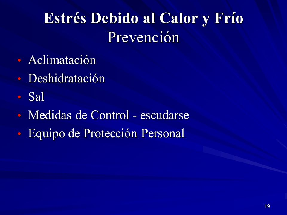 Estrés Debido al Calor y Frío Prevención