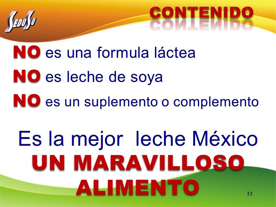 Es la mejor leche México UN MARAVILLOSO ALIMENTO