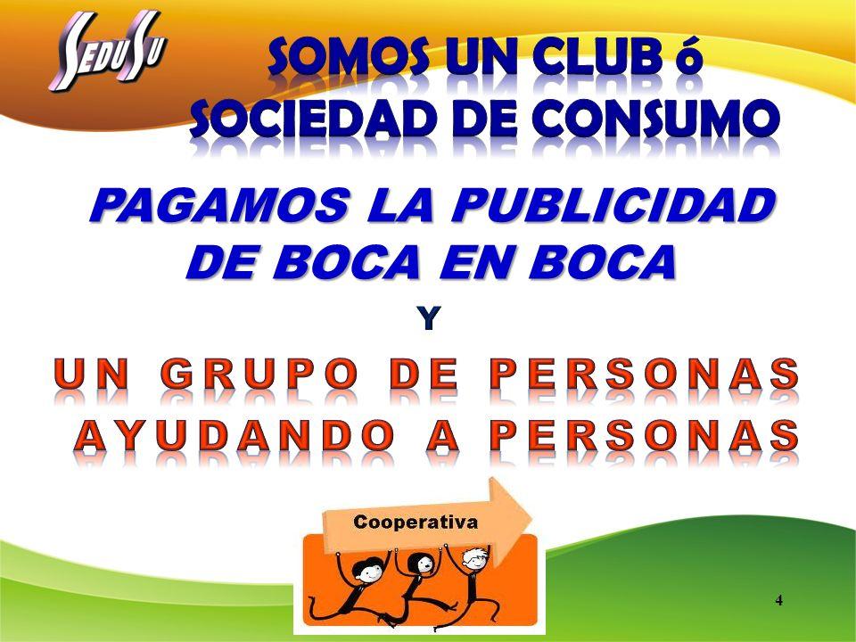 SOMOS UN CLUB ó SOCIEDAD DE CONSUMO