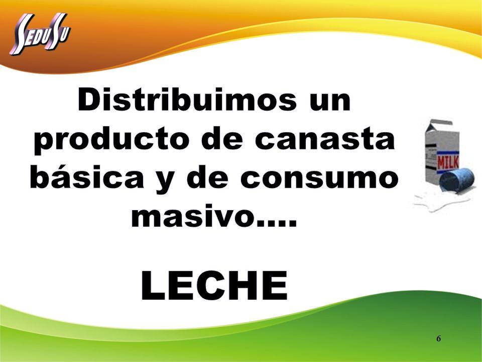 Distribuimos un producto de canasta básica y de consumo masivo….