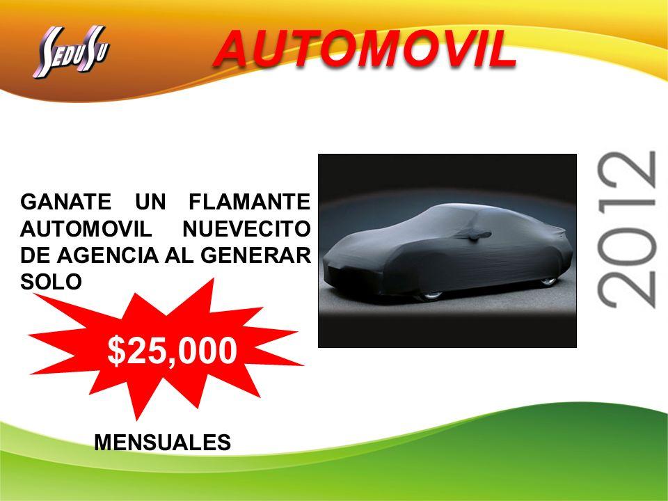 AUTOMOVIL GANATE UN FLAMANTE AUTOMOVIL NUEVECITO DE AGENCIA AL GENERAR SOLO MENSUALES $25,000