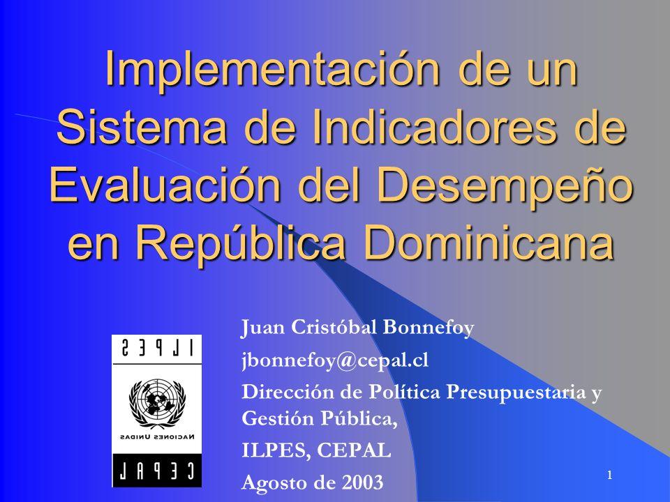Implementación de un Sistema de Indicadores de Evaluación del Desempeño en República Dominicana