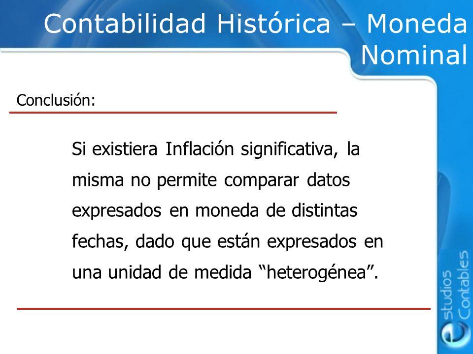 Contabilidad Histórica – Moneda Nominal