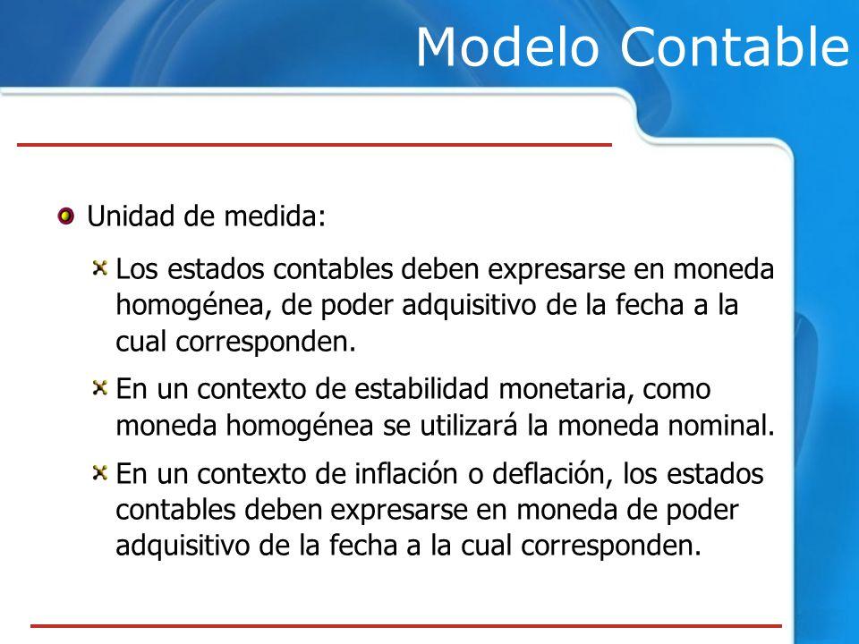 Modelo Contable Unidad de medida: