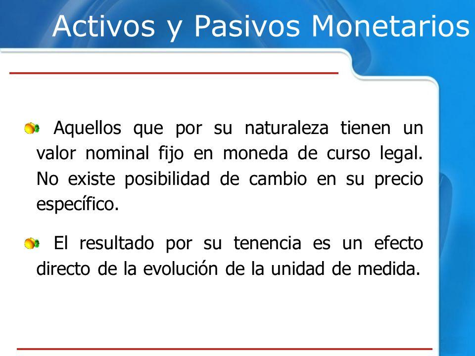 Activos y Pasivos Monetarios