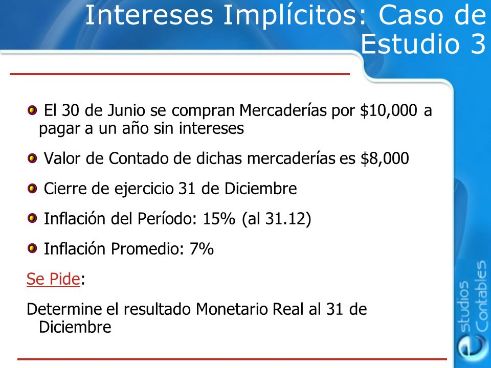 Intereses Implícitos: Caso de Estudio 3
