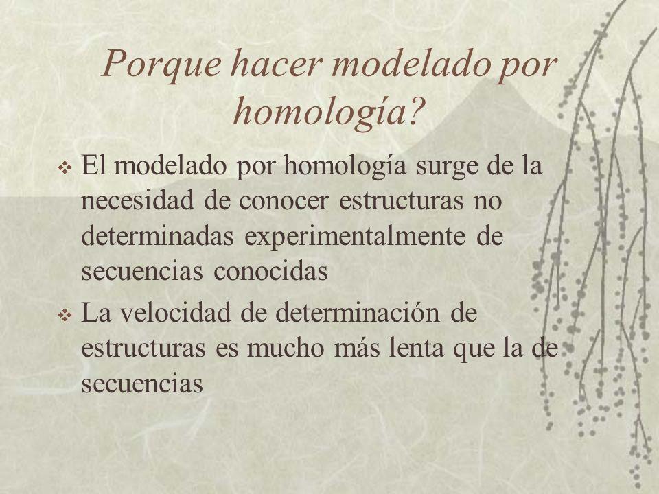 Porque hacer modelado por homología