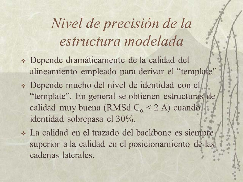 Nivel de precisión de la estructura modelada