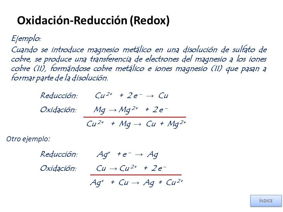 Oxidación-Reducción (Redox)