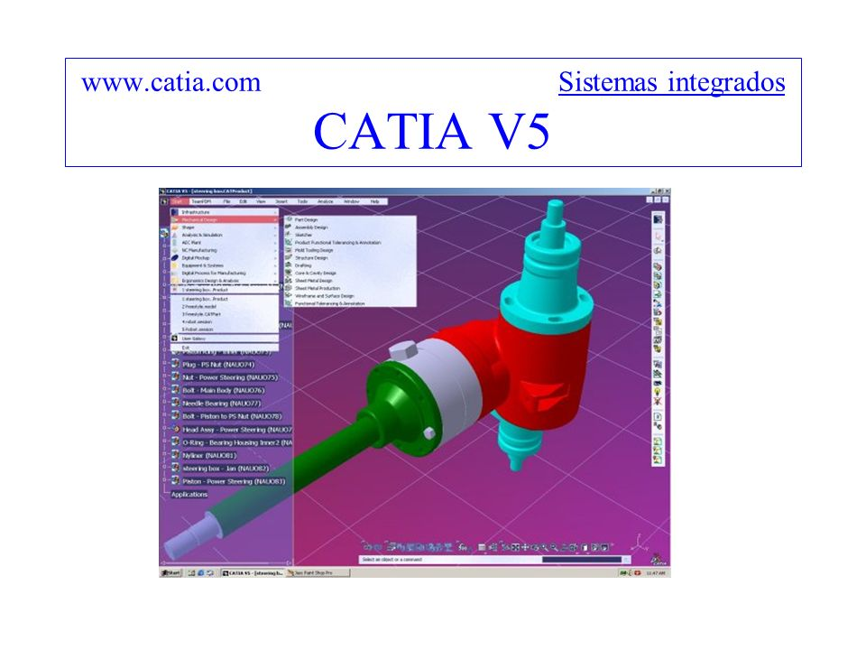 www.catia.com Sistemas integrados CATIA V5