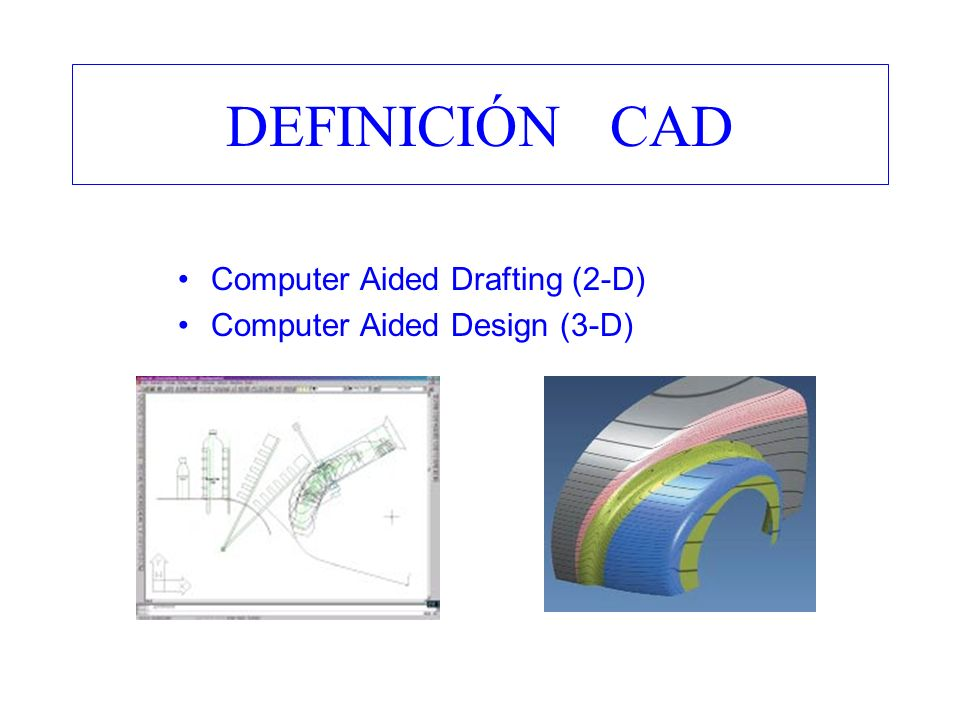 DEFINICIÓN CAD Computer Aided Drafting (2-D)
