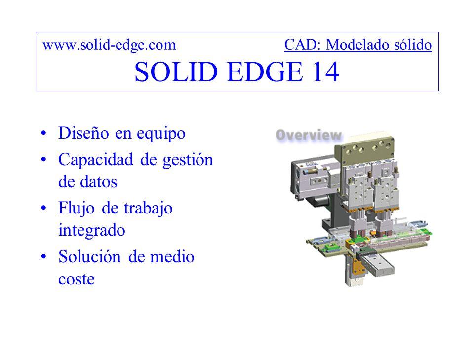 www.solid-edge.com CAD: Modelado sólido SOLID EDGE 14