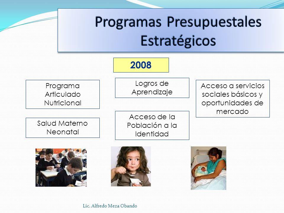 Programas Presupuestales Estratégicos