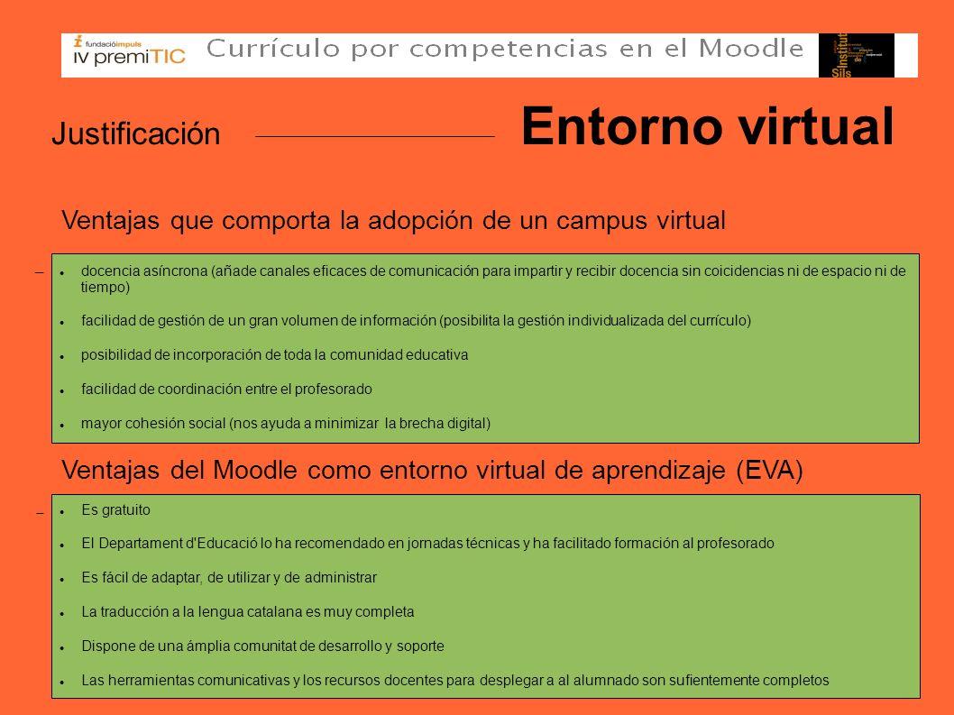 Justificación Entorno virtual