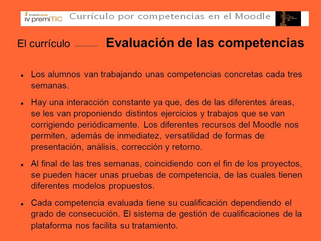 El currículo Evaluación de las competencias