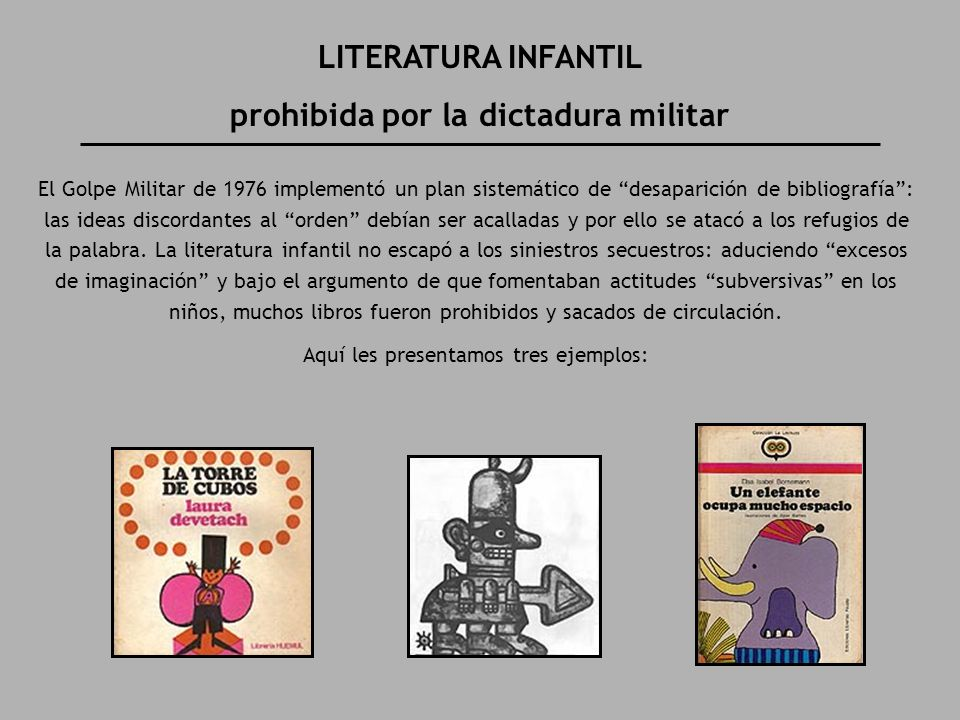 prohibida por la dictadura militar