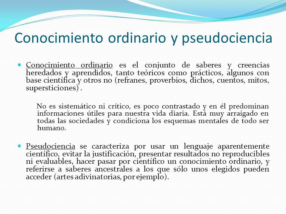 Conocimiento ordinario y pseudociencia