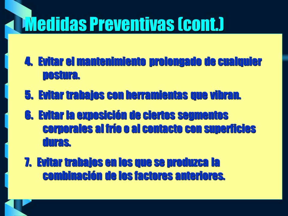Medidas Preventivas (cont.)