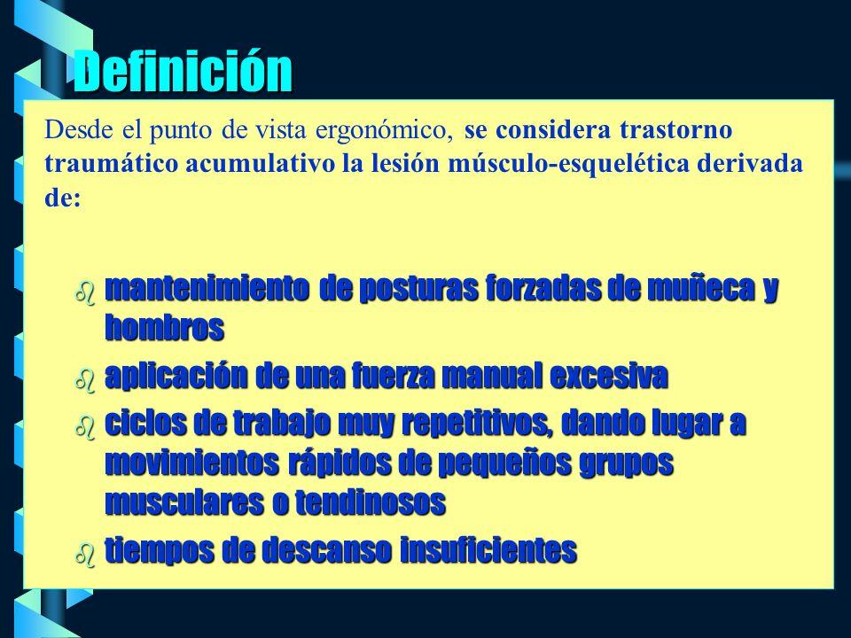 Definición mantenimiento de posturas forzadas de muñeca y hombros
