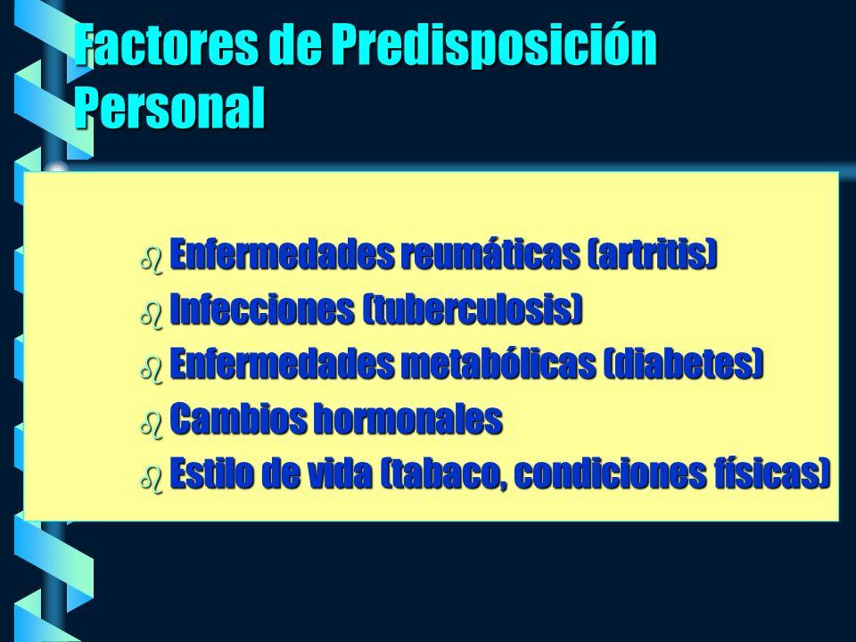 Factores de Predisposición Personal