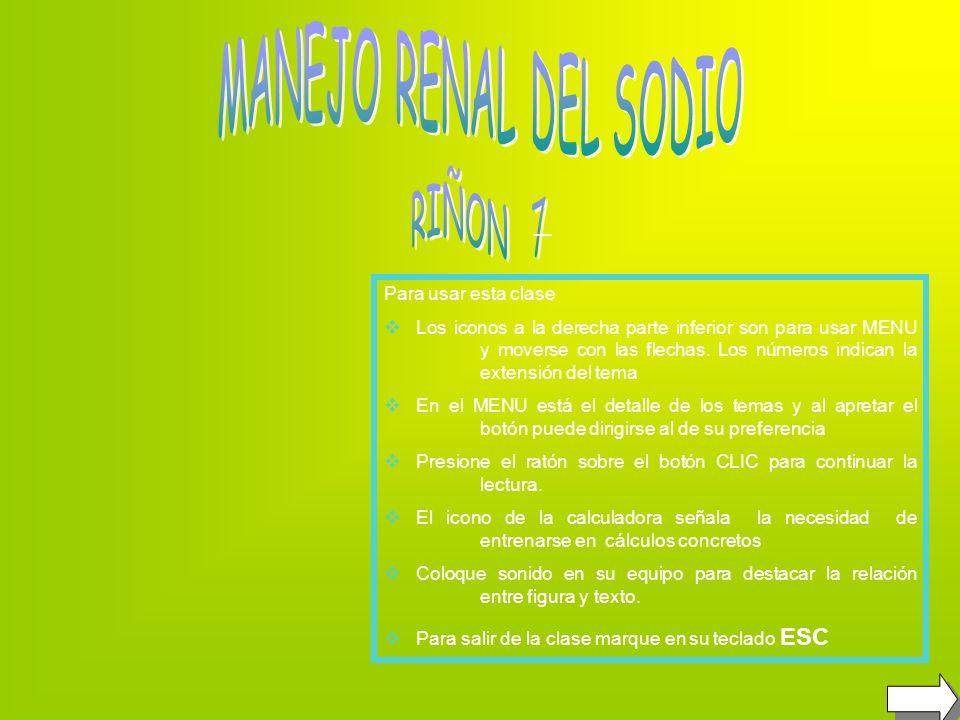 MANEJO RENAL DEL SODIO _ RIÑON 7 Para usar esta clase