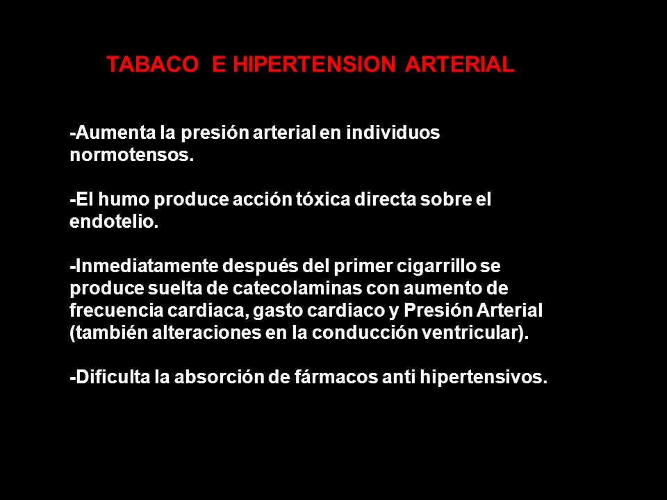 TABACO E HIPERTENSION ARTERIAL
