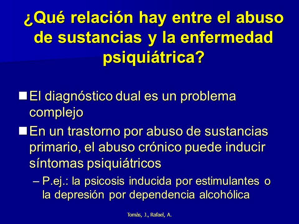 ¿Qué relación hay entre el abuso de sustancias y la enfermedad psiquiátrica