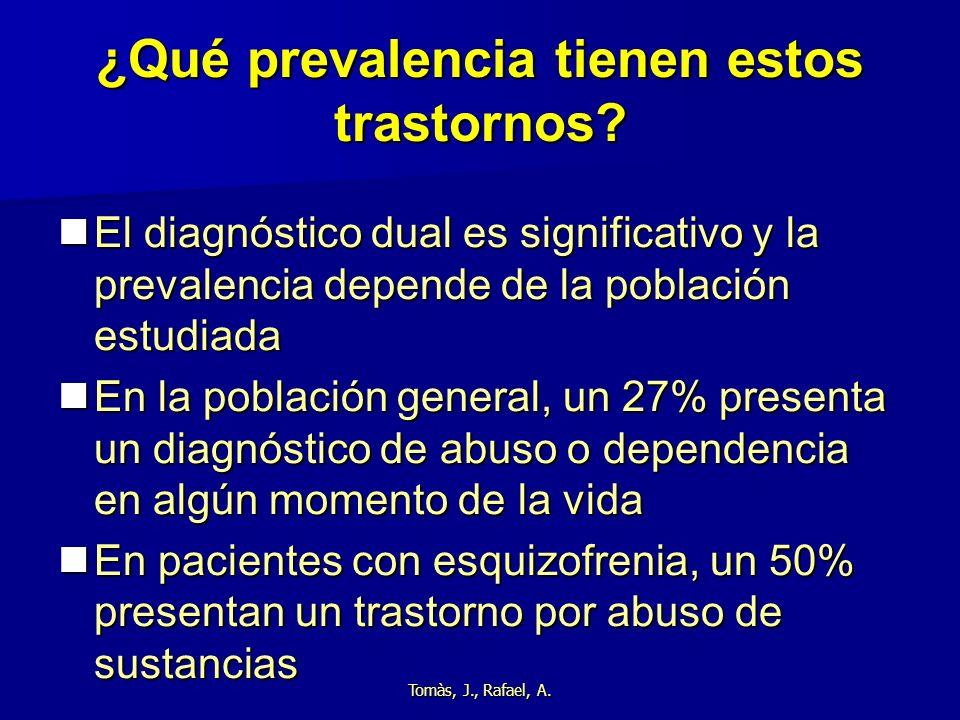¿Qué prevalencia tienen estos trastornos