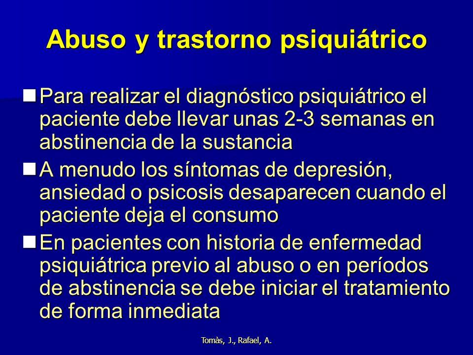 Abuso y trastorno psiquiátrico