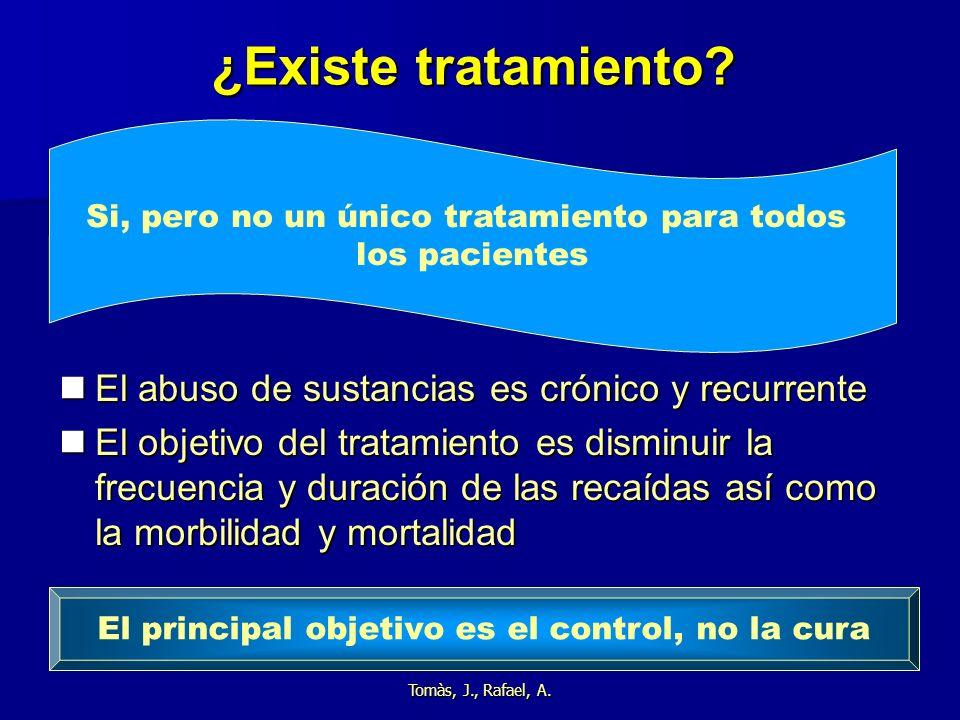 ¿Existe tratamiento El abuso de sustancias es crónico y recurrente