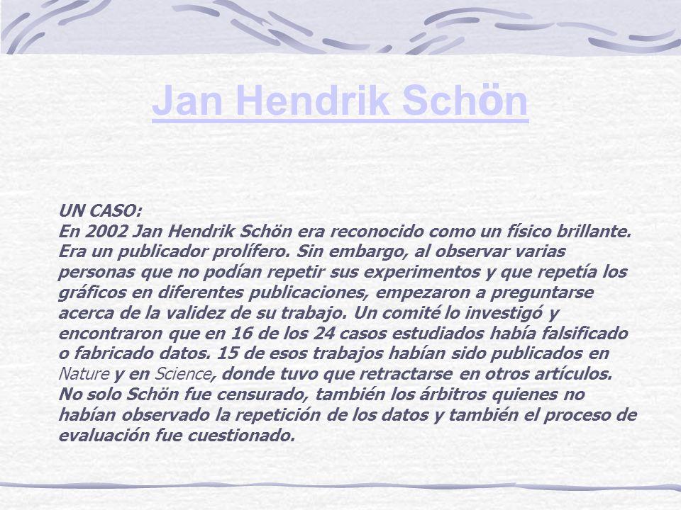 Jan Hendrik Schön UN CASO: