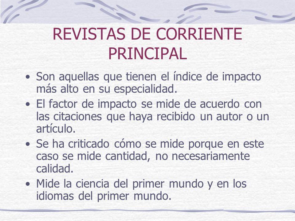 REVISTAS DE CORRIENTE PRINCIPAL