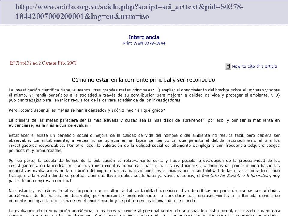 http://www. scielo. org. ve/scielo. php