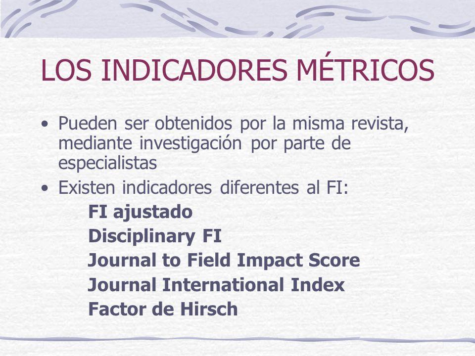 LOS INDICADORES MÉTRICOS