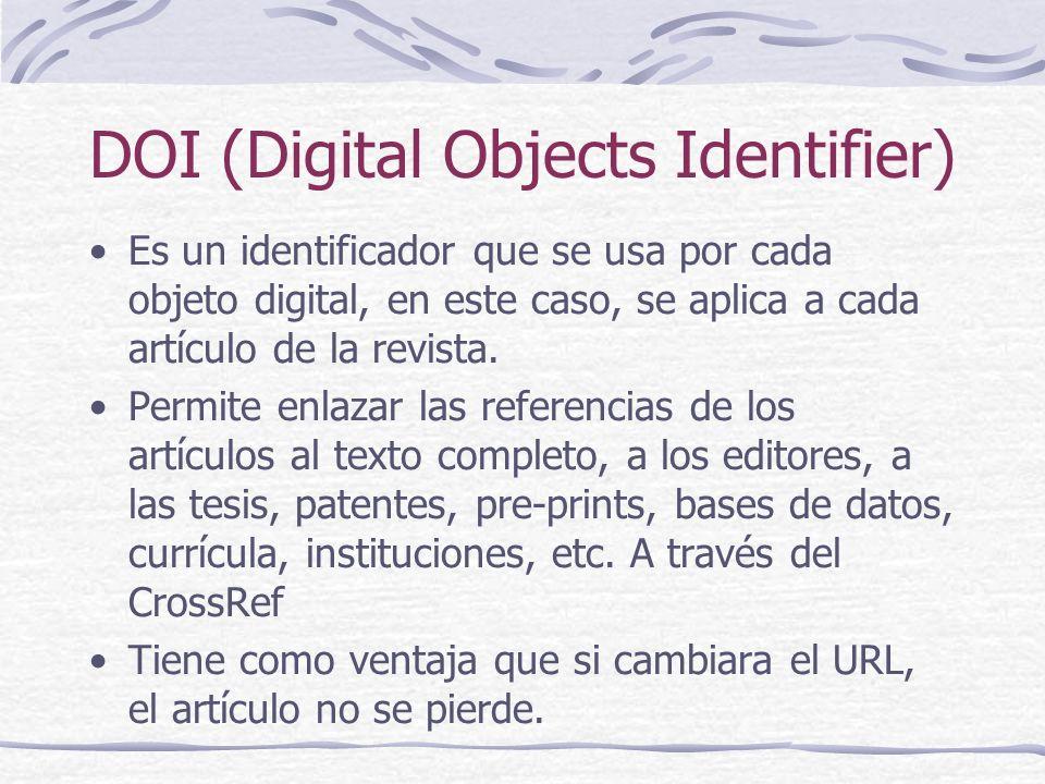 DOI (Digital Objects Identifier)