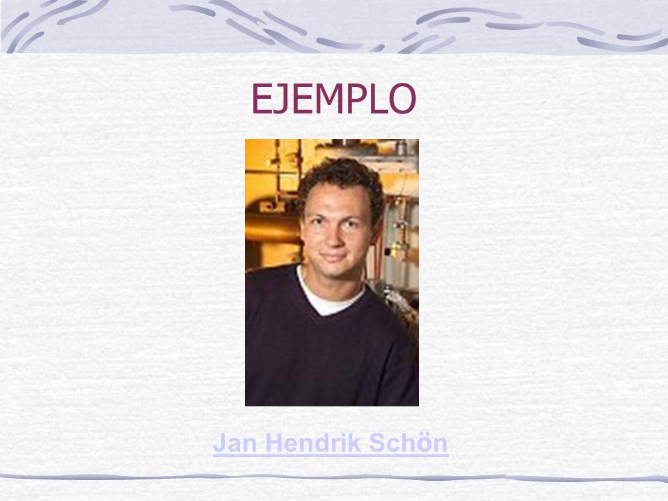 EJEMPLO Jan Hendrik Schön