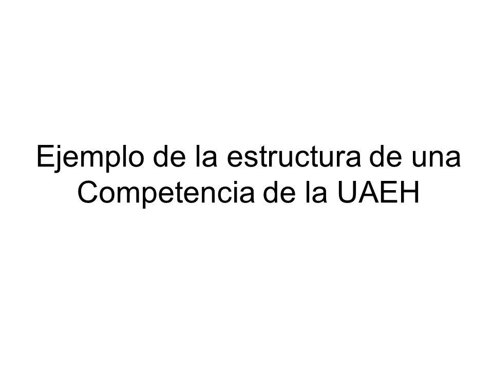 Ejemplo de la estructura de una Competencia de la UAEH