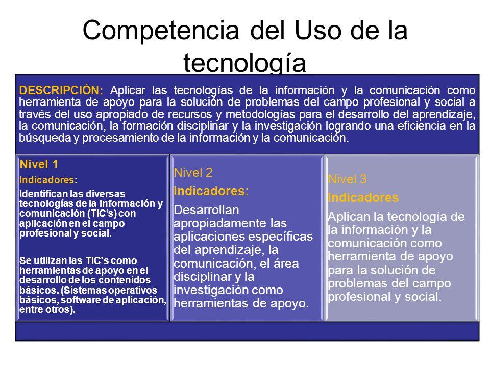 Competencia del Uso de la tecnología