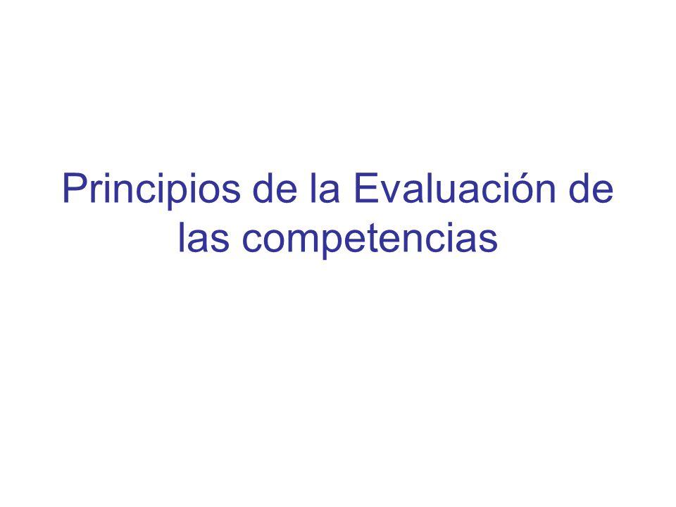 Principios de la Evaluación de las competencias