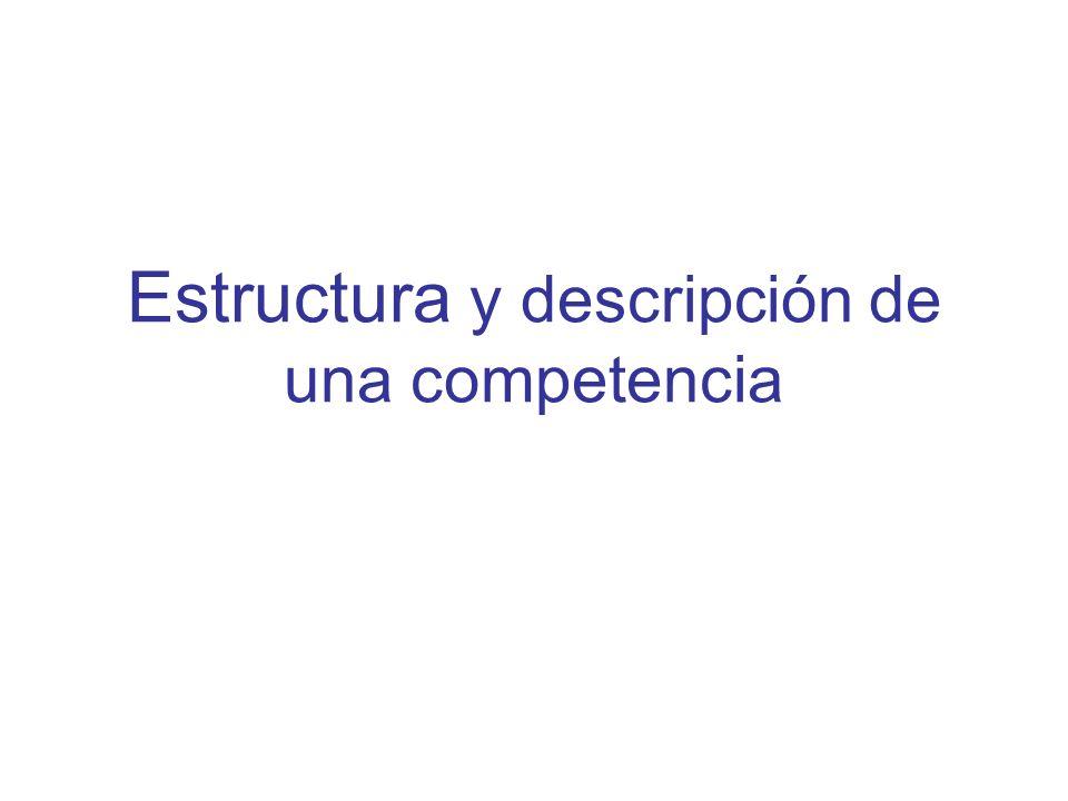 Estructura y descripción de una competencia