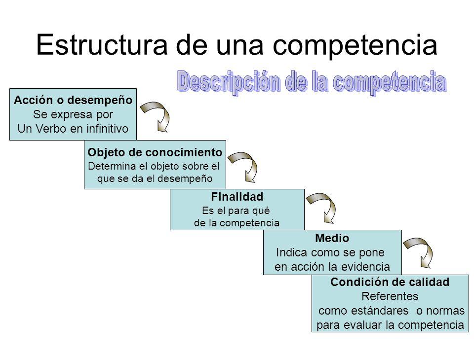 Estructura de una competencia