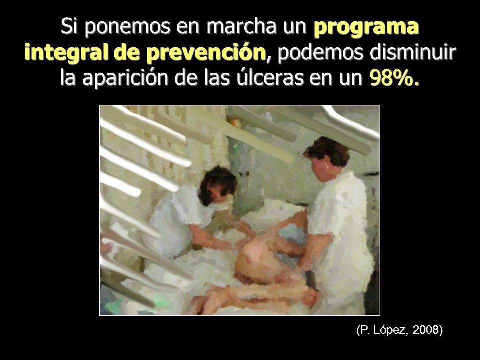 Si ponemos en marcha un programa integral de prevención, podemos disminuir la aparición de las úlceras en un 98%.