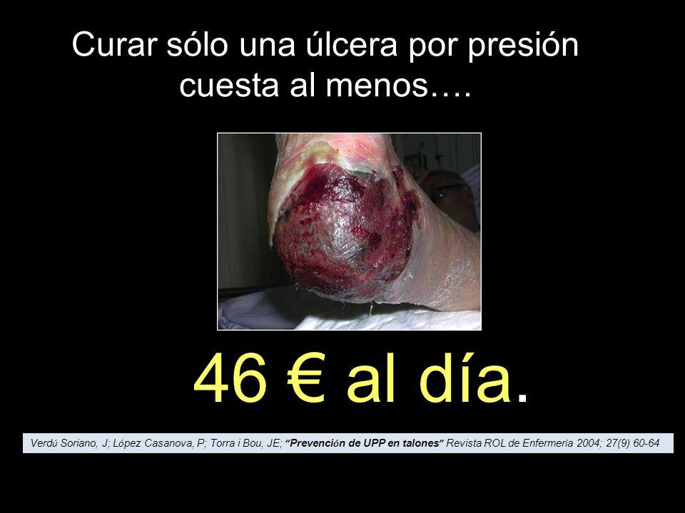 Curar sólo una úlcera por presión cuesta al menos….