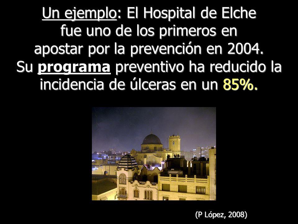 Un ejemplo: El Hospital de Elche fue uno de los primeros en apostar por la prevención en 2004. Su programa preventivo ha reducido la incidencia de úlceras en un 85%.