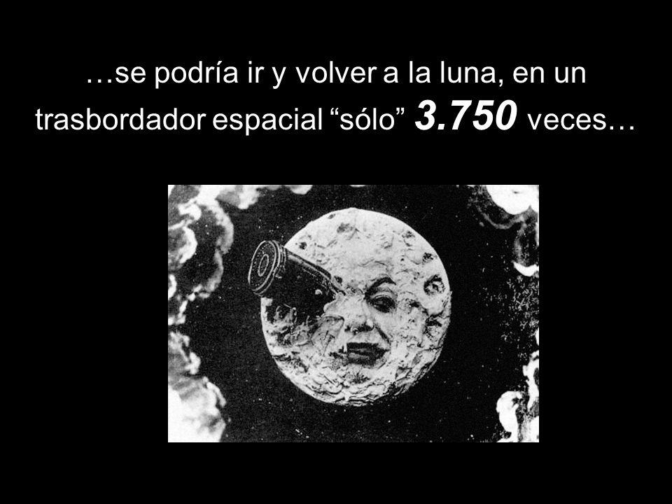 …se podría ir y volver a la luna, en un trasbordador espacial sólo 3