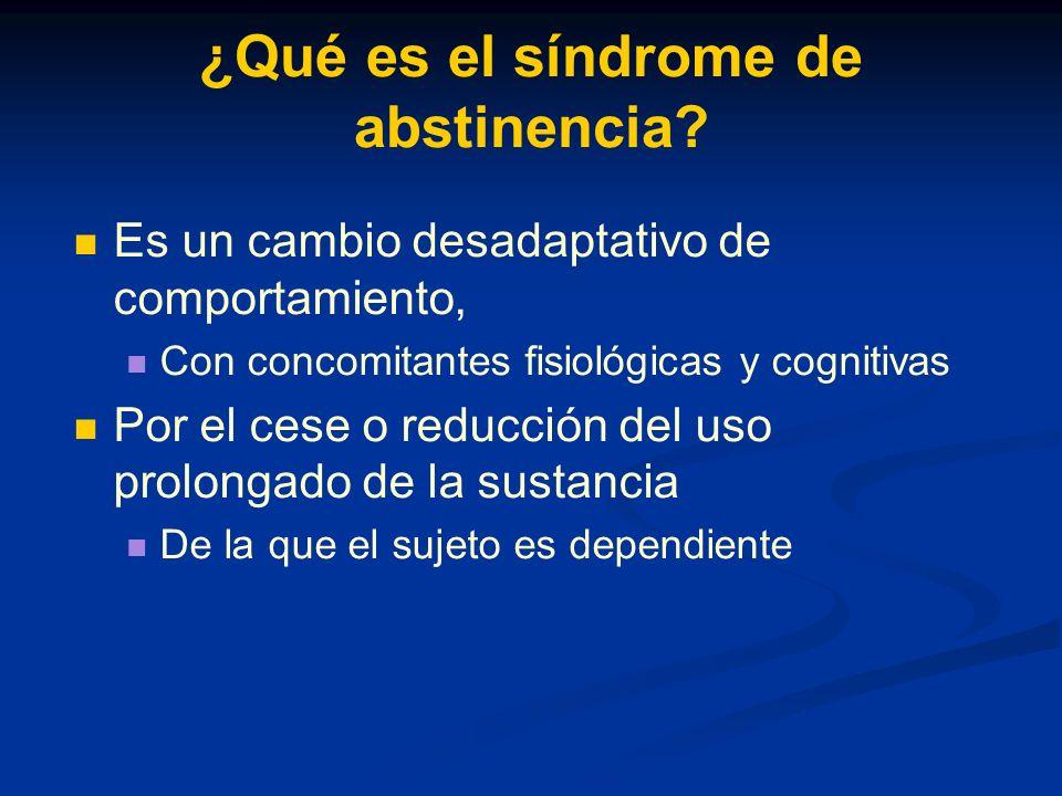 ¿Qué es el síndrome de abstinencia