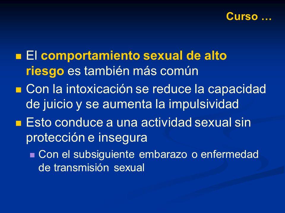 El comportamiento sexual de alto riesgo es también más común