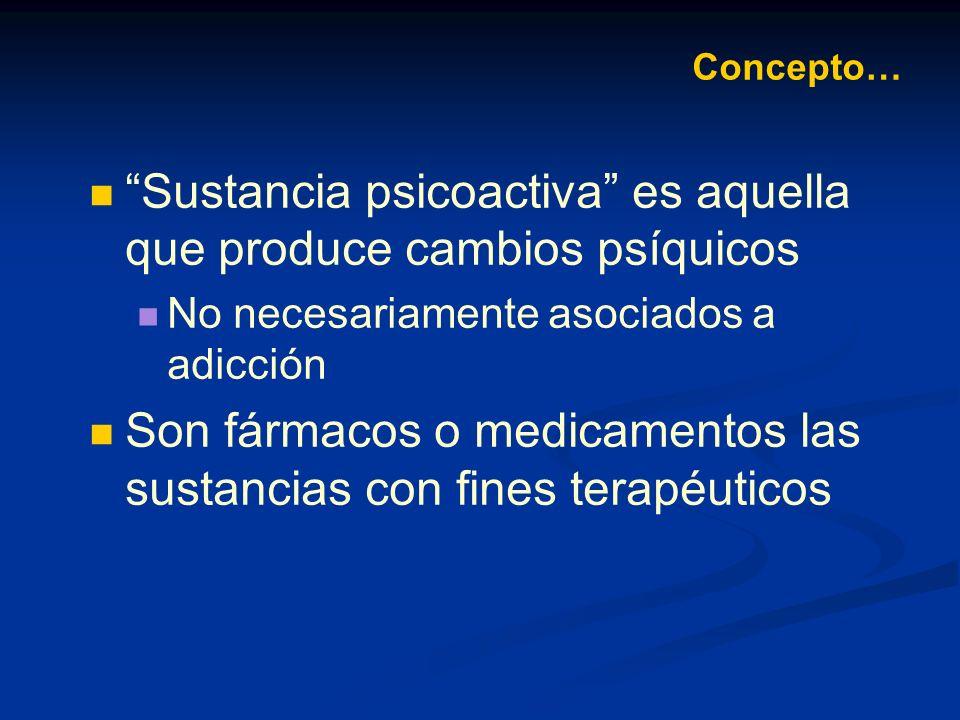 Sustancia psicoactiva es aquella que produce cambios psíquicos